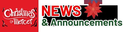 Christmas on Mercer News & Announcements