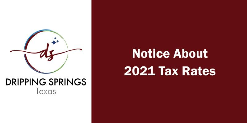 Tax Rate Notice